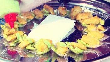 panga marinated with cucumber