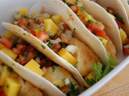 Grilled fish tacos with mango salsa - Your everyday fish