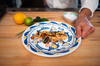 Pangasius Asian milk marinade and mushrooms –Your everyday fish