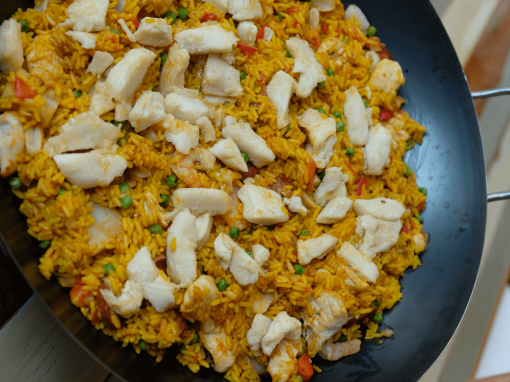 Paella with pangasius – Your everyday fish